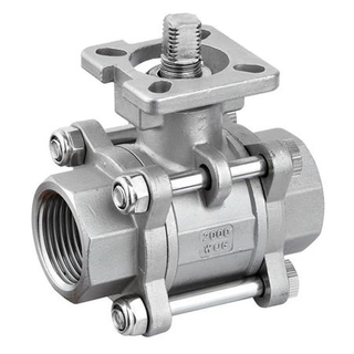 3PC Stainless Steel Thread Ball Valve with Platform
