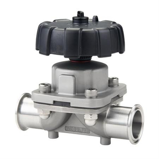 Manual Clamped 2 Way Pneumatic Diaphragm Valve