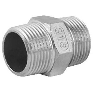 Stainless Steel Casting Pipe Fittings Hex Nipple