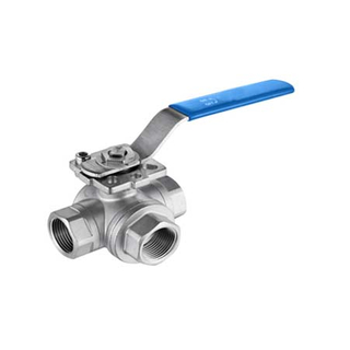 3 Way Ball Valves with Mounting Pad