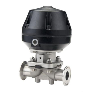 2Way Pneumatic Diaphragm Valve with Plastic Actuator