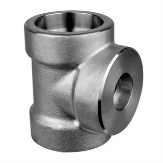 China High Pressure Fittings Supplier A182 GR F5 Alloy Steel Socket Weld Reducing Tee ASME B16.11,DN50 9000LB