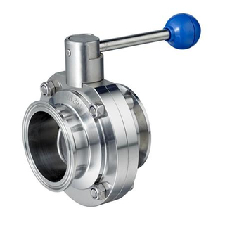 SMS Quick Installed Butterfly Valve With Pull-rod Handle
